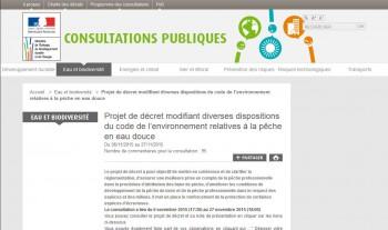 Site web Ministère consultations publiques