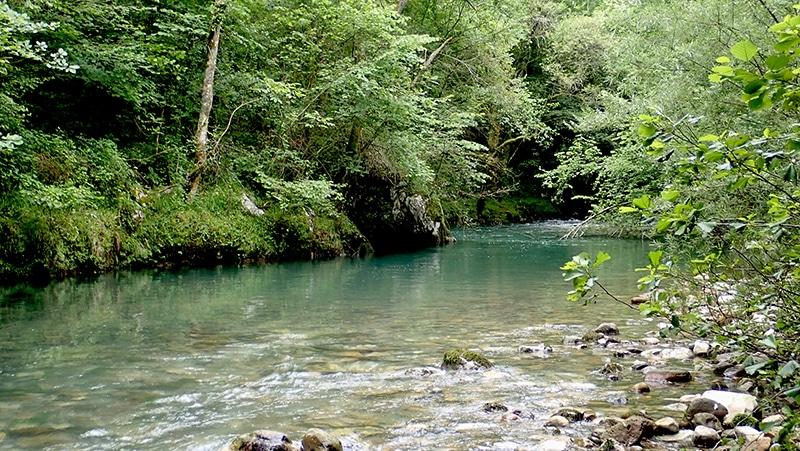 peche truite riviere en crue